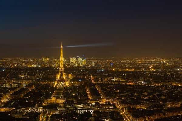 Paris city of Lights at night