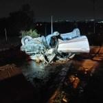 Driver slams into concrete barrier1