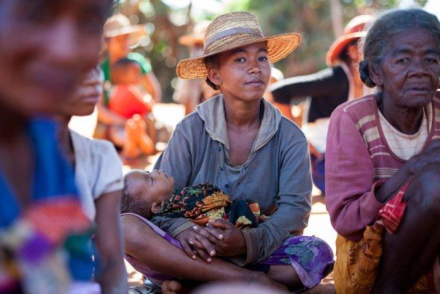 Madagascan villagers