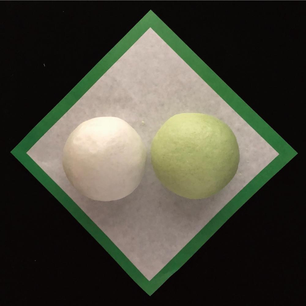 緑白饅頭・緑白薯蕷饅頭