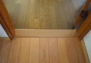 フローリングリフォーム張り替えの時は、床の段差を解消しておく