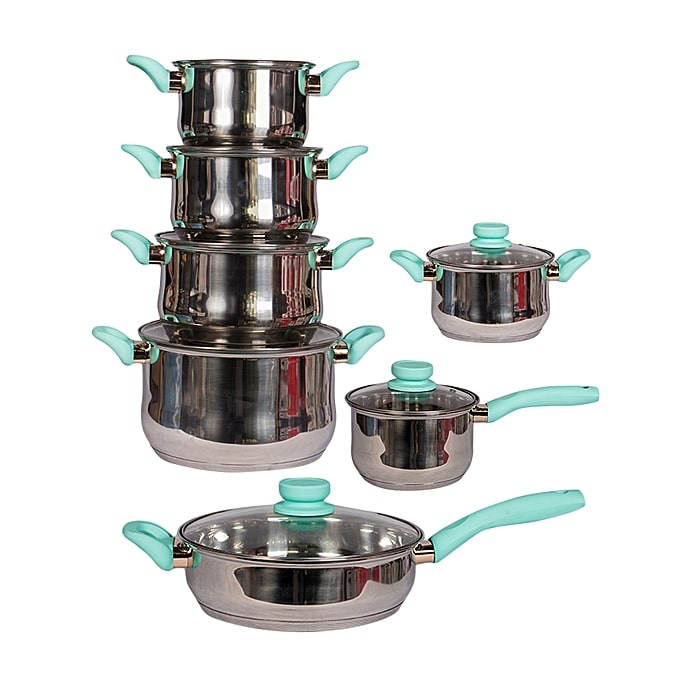 Signature 12Pcs Stainless Steel Cookware