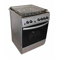 Super General SGC6470MS-Electric Cooker 60X60 with 3 Gas Burners + 1 Hot Plate-Stainless steel With Tempered Glass-TOP-GREY-INOX