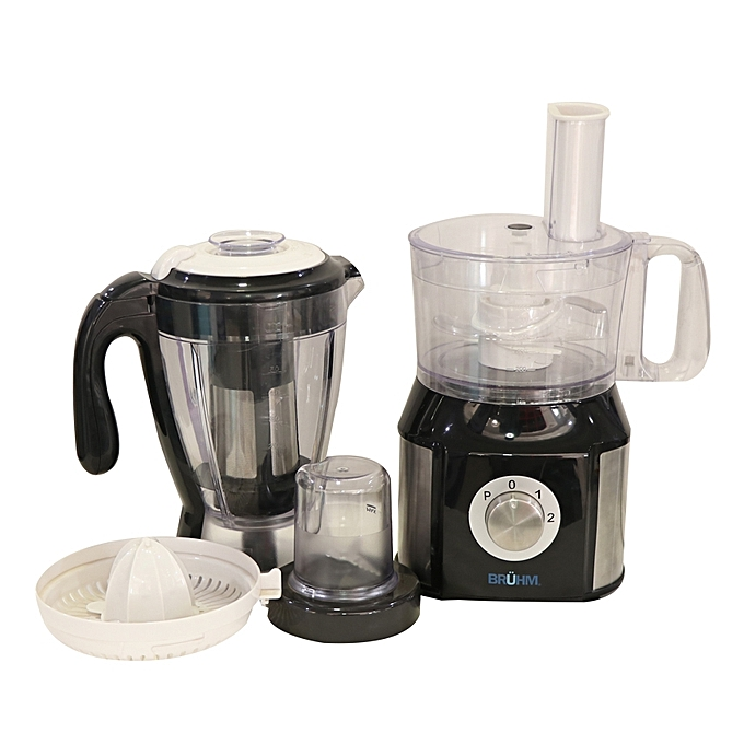 Bruhm BMP-101 10-in-1 Food Processor – 1.8 Litre Black