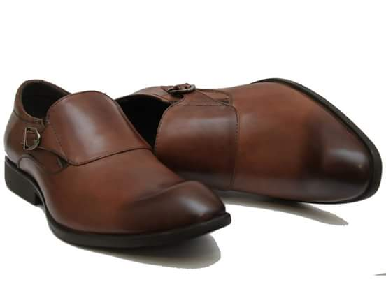 Clarks Leather Shoes-BROWN