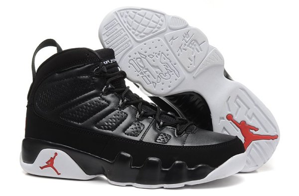 Nike Air Jordan 9 Retro IX Anthracite White Black Shoes 302370 013 Unisex