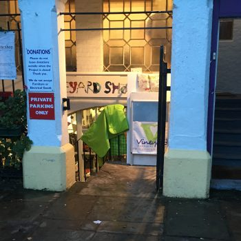 Vineyard Charity Shop entrance