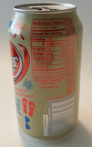 dr pepper vanilla float nutritional facts