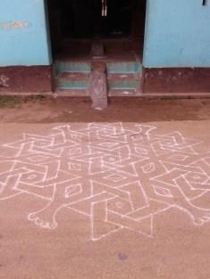 Kolam outside the Komal house