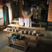秋期祭 献じられた神饌(平成27年10月16日撮影)