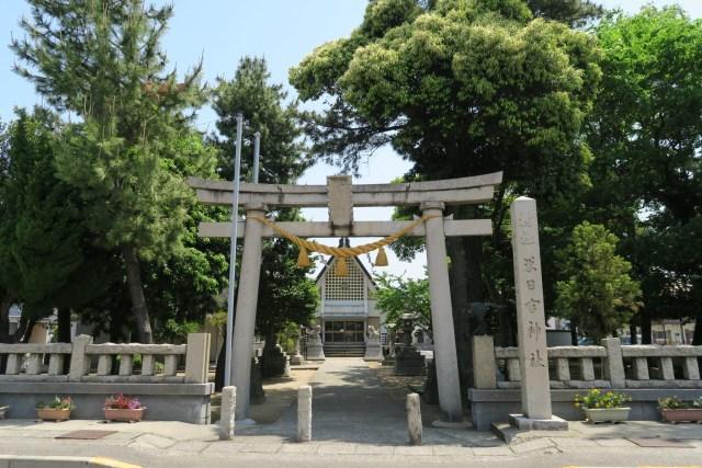 米日吉神社 正面入り口