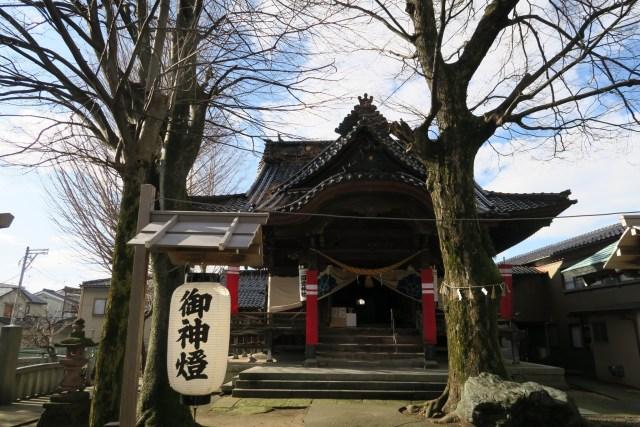 冬の国造神社拝殿