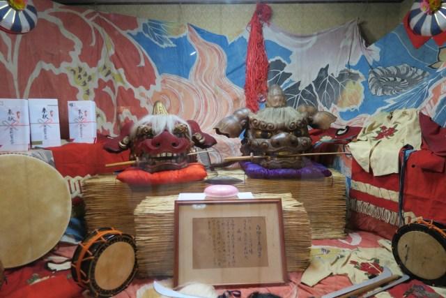 国造神社の獅子頭