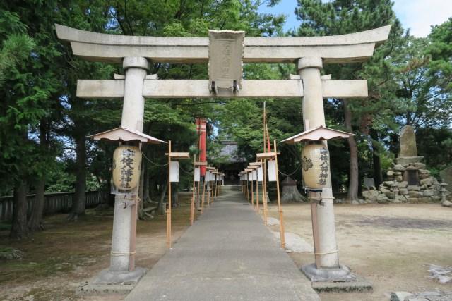 宇佐八幡神社参道(平成28年)