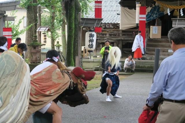 国造神社 泉獅子舞演舞02(平成30年)