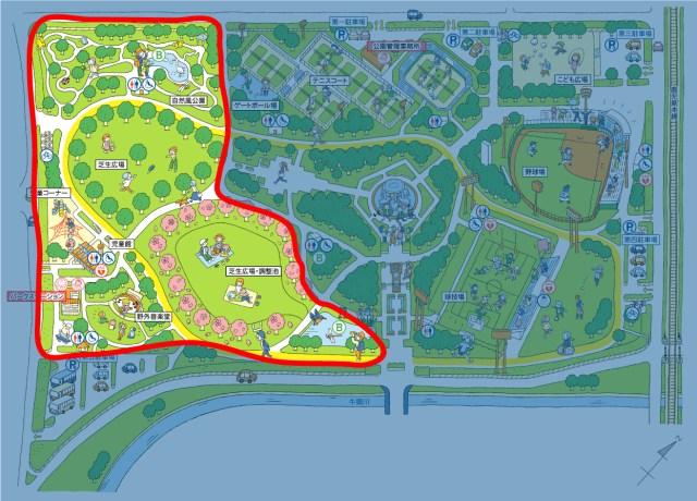 画像:レクリエーションゾーンマップ
