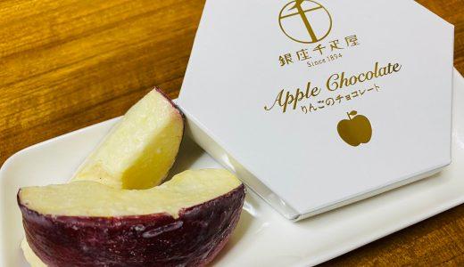 ドライフルーツにチョコ!千疋屋りんごのチョコレートがうまかわいい。