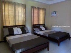 2 beds in each room.