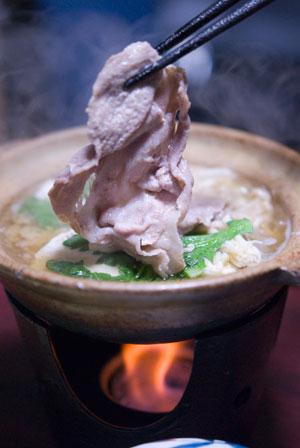 豚の柚子味噌鍋