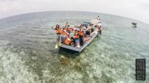 Foto udara dari spot snorkeling dekat pulau