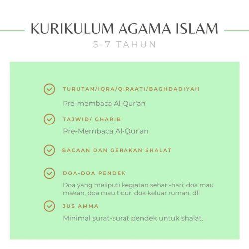Kurikulum Dasar Agama Islam untuk Usia 5-7 Tahun