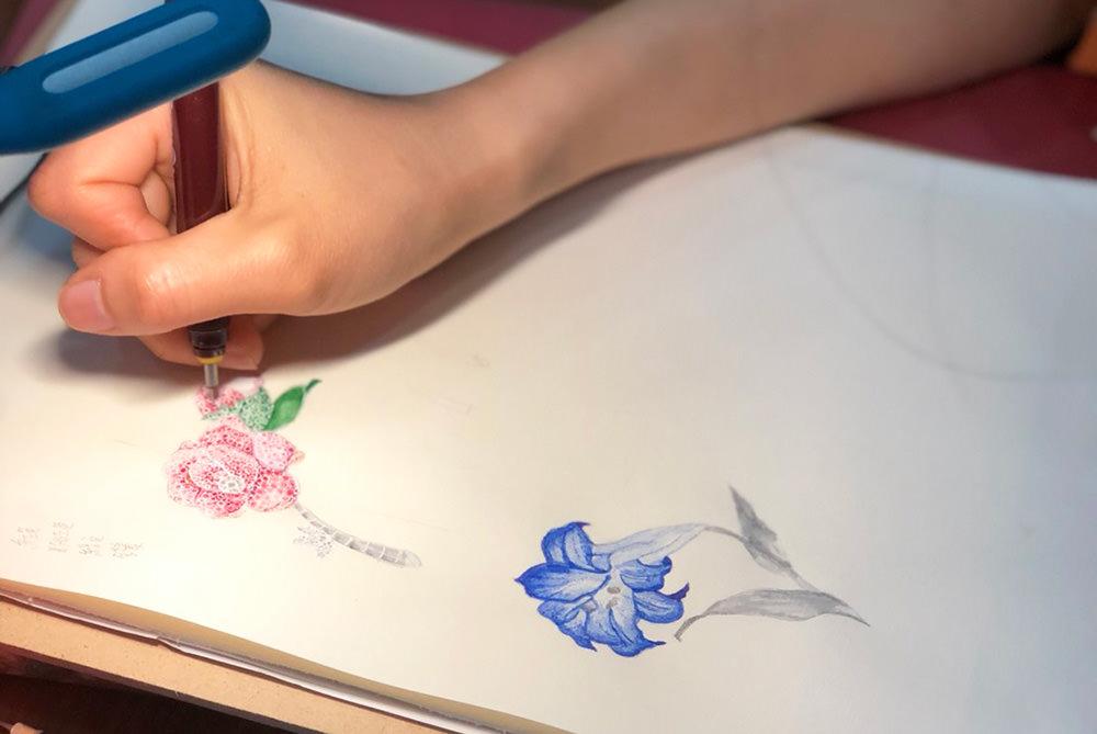 珠寶胸針設計習作   致心底有朵玫瑰的你