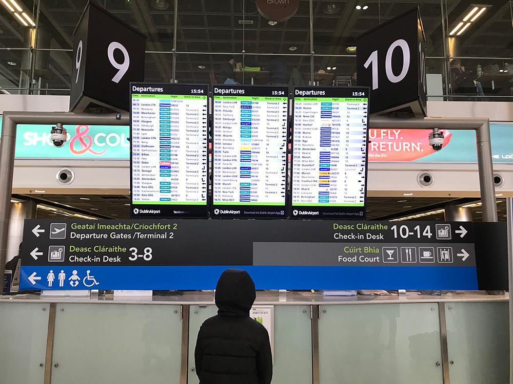 【愛爾蘭】 都柏林機場 | 機場交通攻略 X  機場物價揭秘 (含影片)