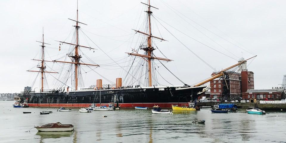【英國 】樸茨茅斯Portsmouth 岡沃夫碼頭購物商場 X 大三角帆船斯賓奈克塔    Gunwharf Quays outlet