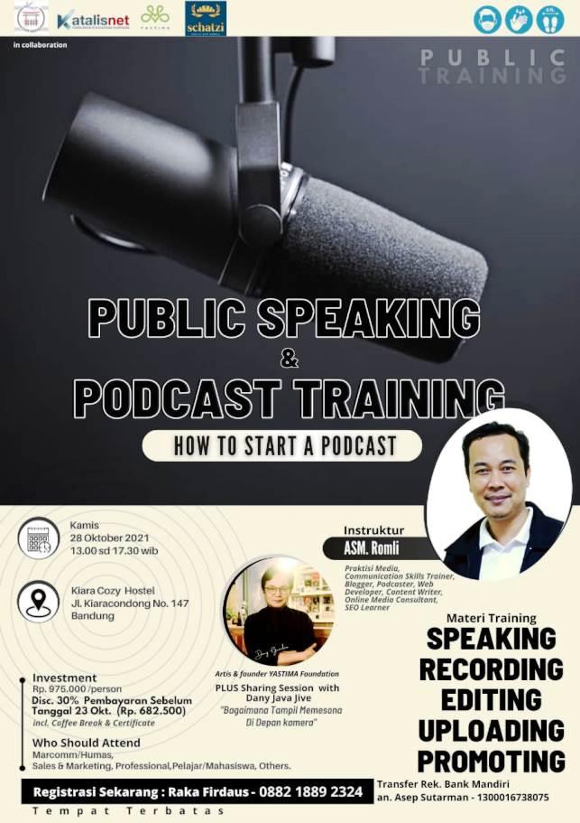 Katalisnet Gelar Pelatihan Public Speaking Podcast
