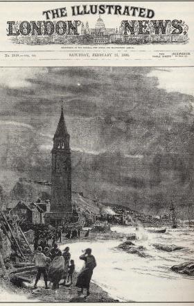 ZANTE - earthquake of 1893 - drawing by C. W. Wyllie, ILN, 25 Feb. 1893