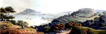 ZANTE in the 1810s, by William Turner (1792-1867), from his Journal of a Tour in the Orient (Ist. vol), London 1820