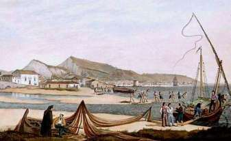 ZANTE - The Town and Harbourg of Zante, coulor aquatint, after Joseph Catwright, engravers Rober Havell Snr and Jnr, published in London, March 1821