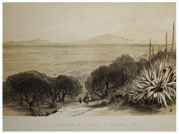 ZANTE . View from the village of Galaro, by Edward Lear, 1863