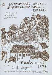 Programma C´Synantisis Mesaionikoy kai Laikou Theatro (sta Aglika), 1976 - exofyllo Nikos Lykouresis