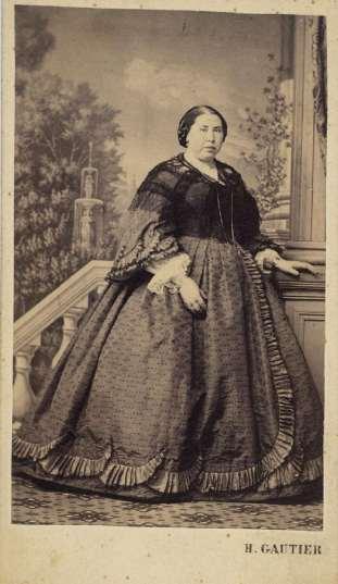 1865. FOTOGRAFOS ESPAÑOLES - Gautier, H., Madrid. Dama. Carte de visite ca. 1865, Hesperus´Collection