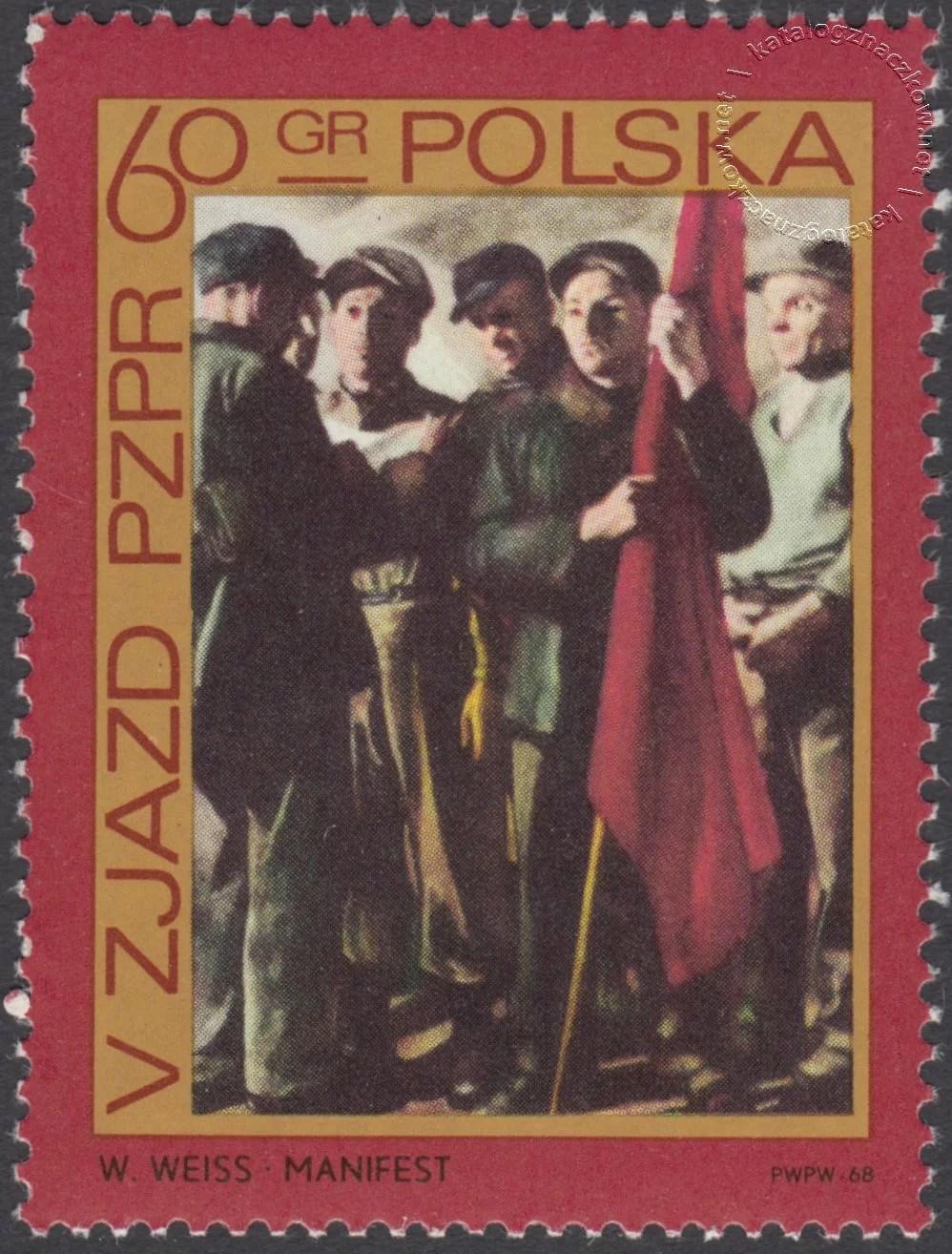 V Zjazd PZPR znaczek nr 1735