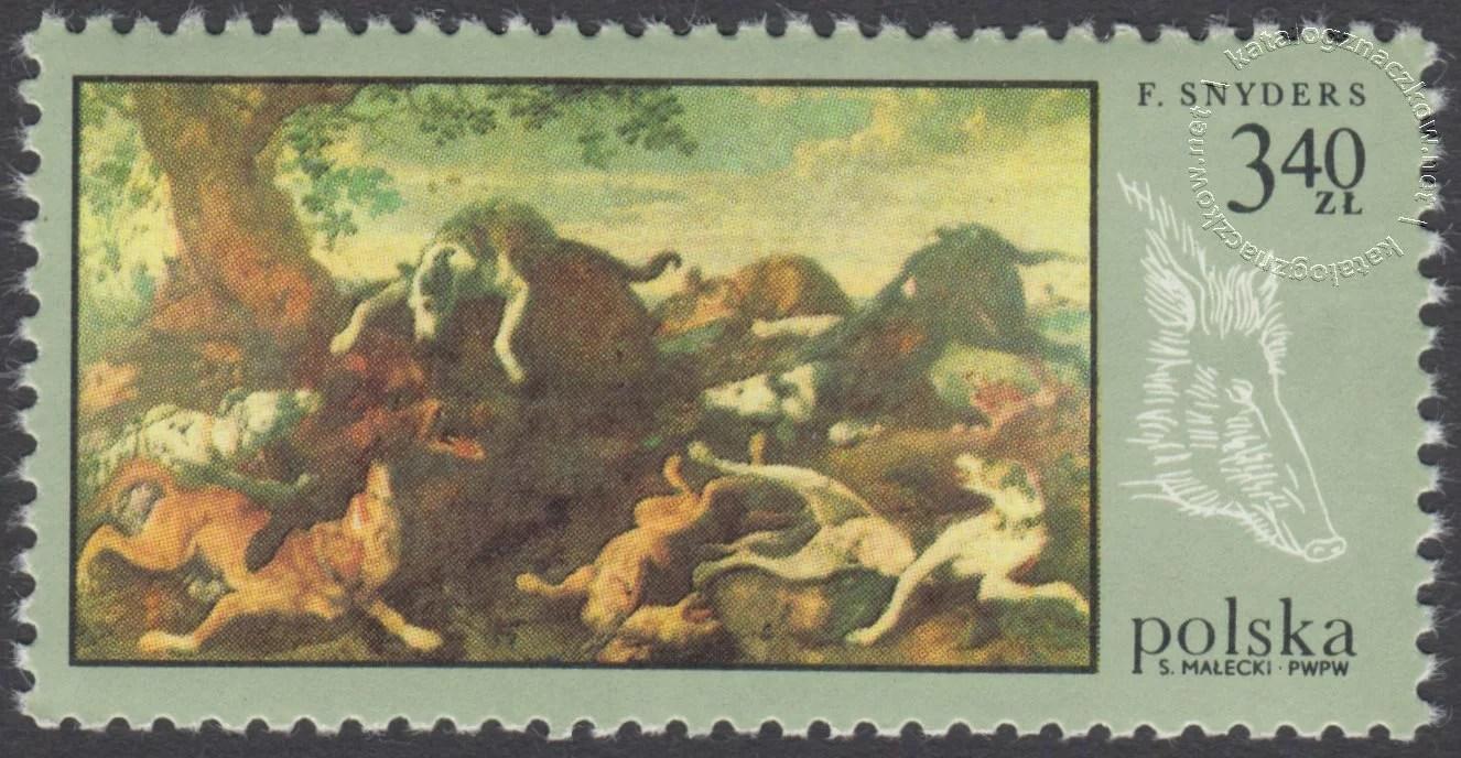 Łowiectwo w malarstwie znaczek nr 1748
