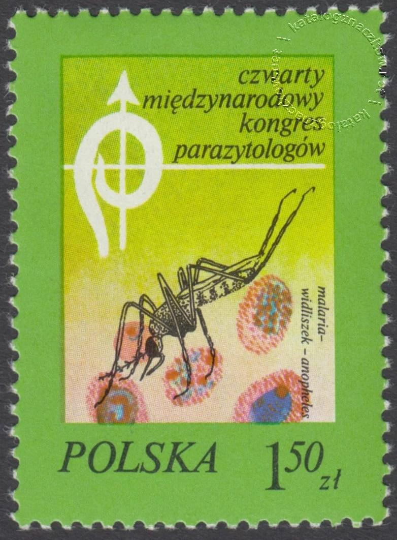 IV Międzynarodowy Kongres Parazytologów znaczek nr 2420