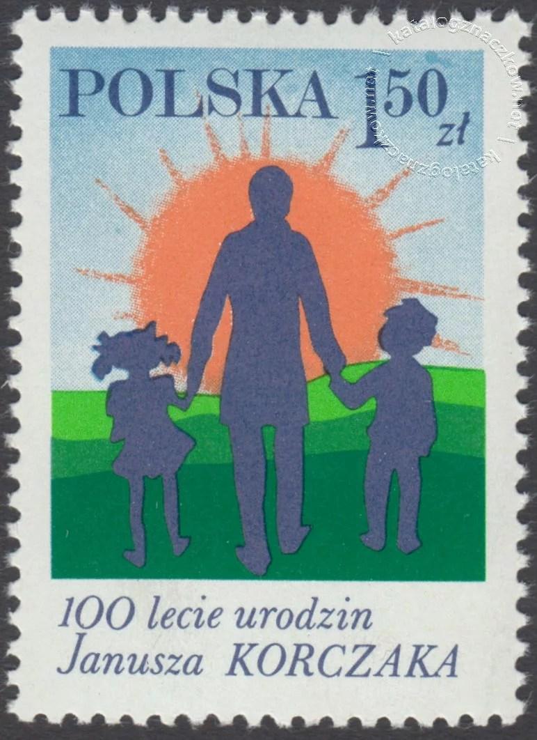 100 rocznica urodzin Janusza Korczaka znaczek nr 2435