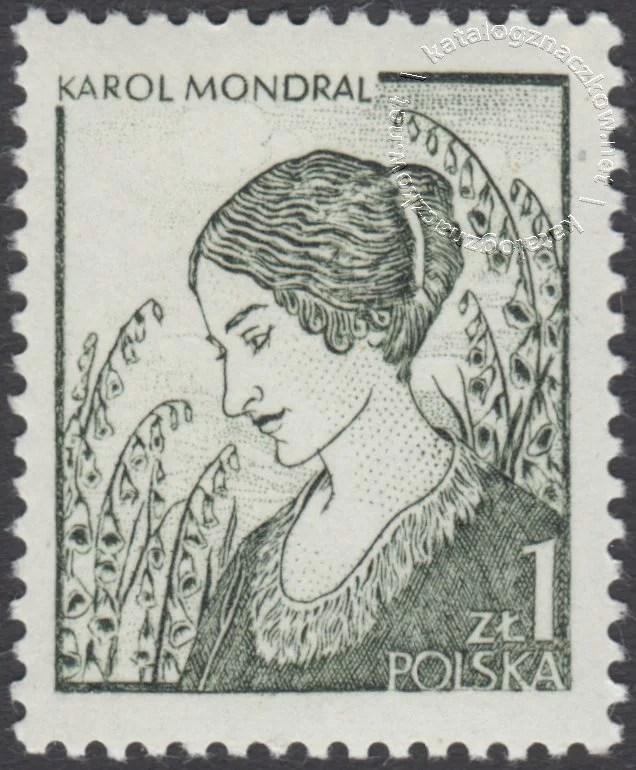 Polska grafika współczesna znaczek nr 2461