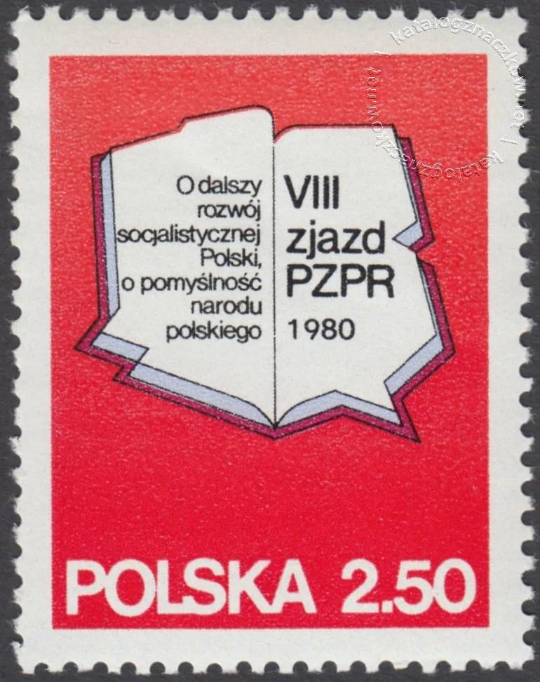 VIII Zjazd PZPR znaczek nr 2525