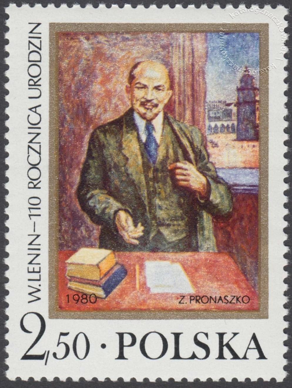 110 rocznica urodzin W.I.Lenina znaczek nr 2534