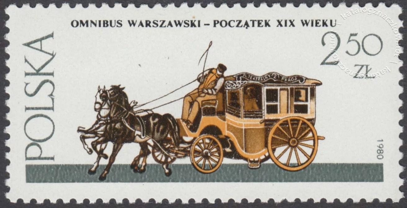 Warszawskie pojazdy konne znaczek nr 2574