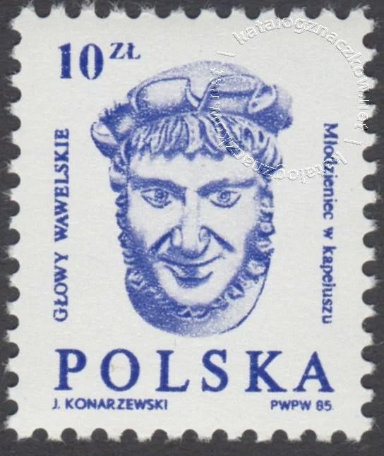 Głowy wawelskie znaczek nr 2839