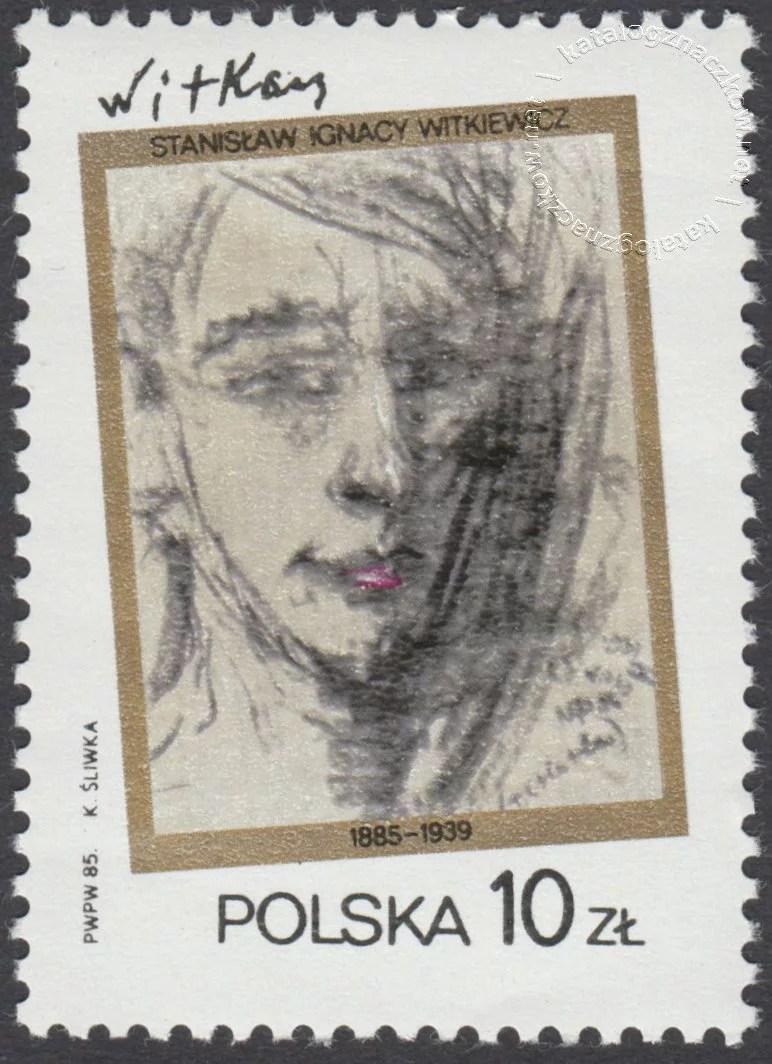 100 rocznica urodzin Stanisława Ignacego Witkiewicza znaczek nr 2860