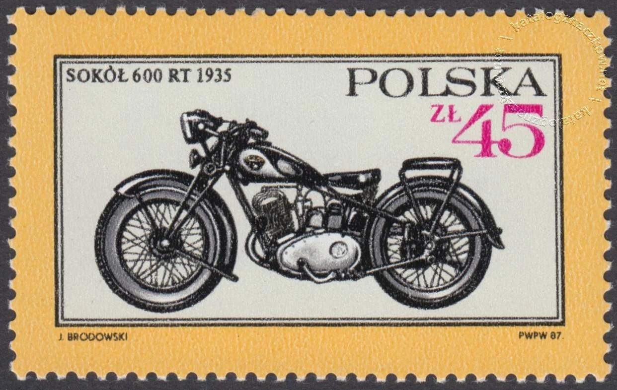 Dawne polskie samochody i motocykle znaczek nr 2949
