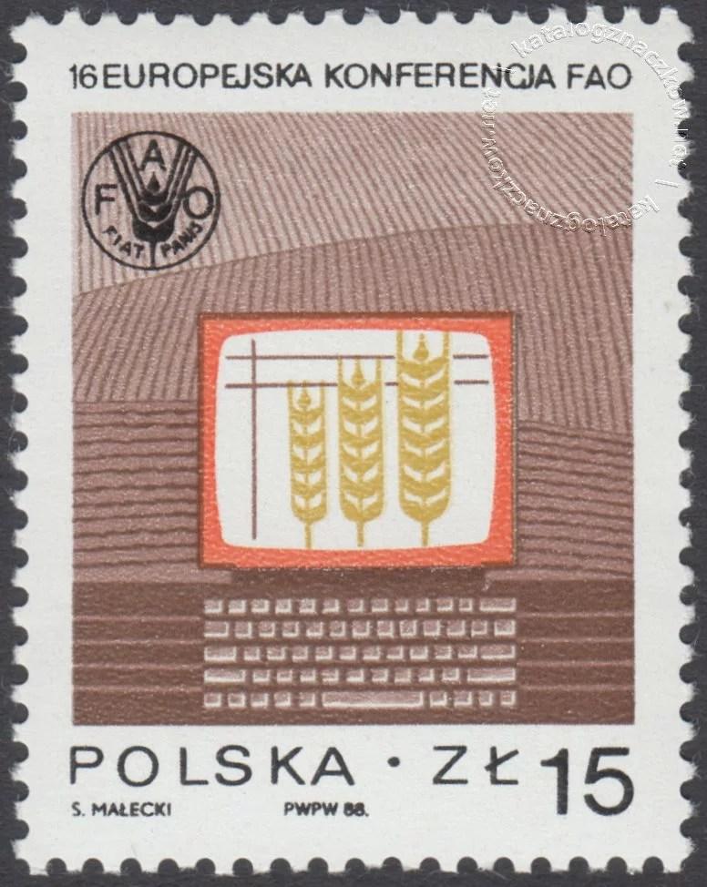 Europejska Konferencja FAO w Krakowie znaczek nr 3008