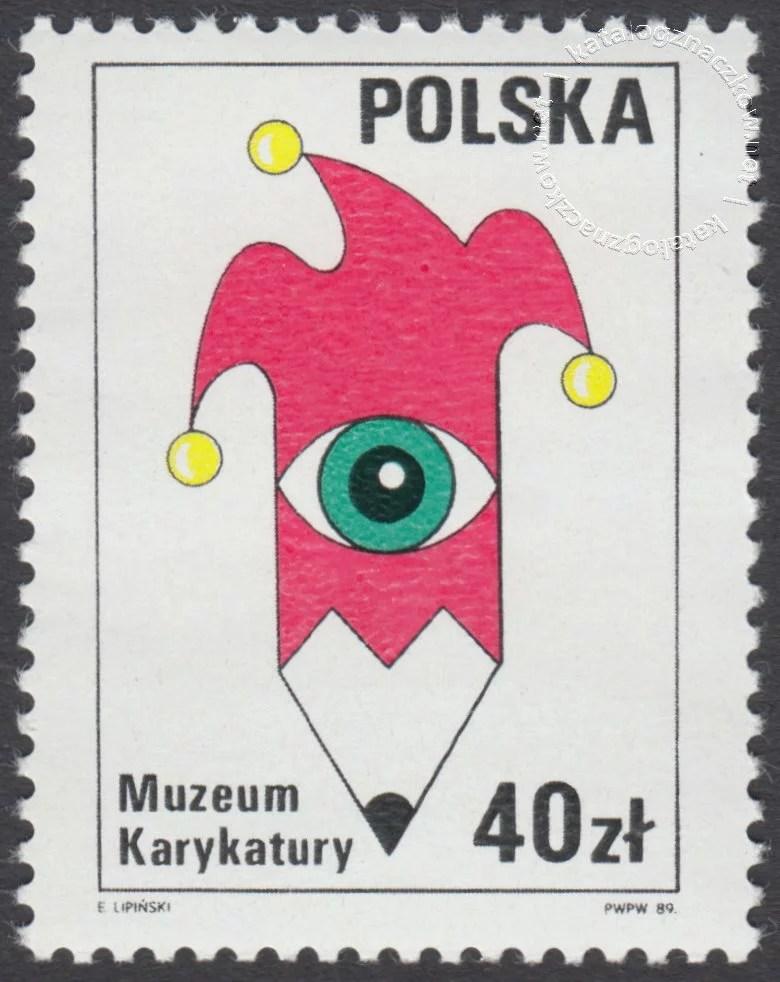 Muzeum Karykatury w Warszawie znaczek nr 3072