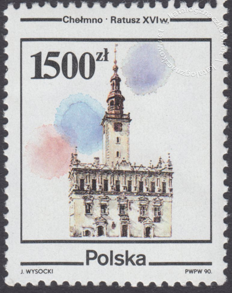 Zabytki miast polskich znaczek nr 3156