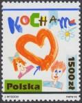 Rysunki dziecięce - Kocham - 3238